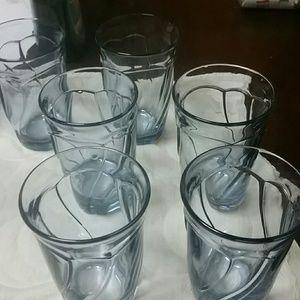 Noritake sweet swirl highball glasses